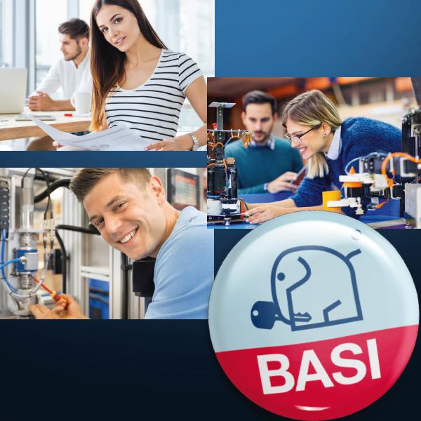 BASI Mitarbeiter aus verschiedenen Bereichen.