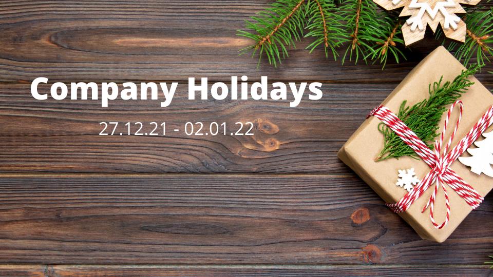 Company Holidays