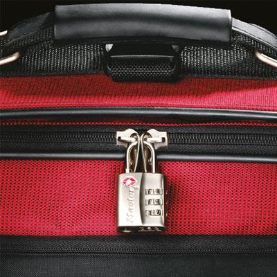 TSA-Schloss am Koffer